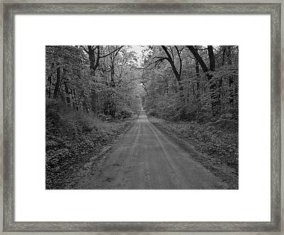 Next Stop..middle Of Nowhere Framed Print by John Crothers