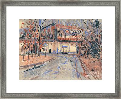 Next To The Freeway Framed Print by Donald Maier
