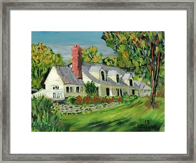 Next To The Wooden Duck Inn Framed Print by Michael Daniels