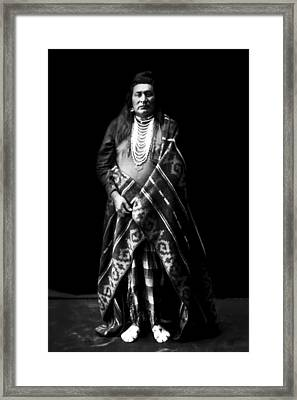 Nez Perce Indian Circa 1899 Framed Print by Aged Pixel