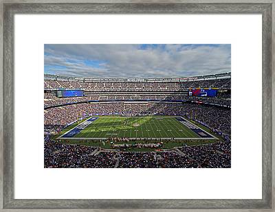 Nfl New York Giants Framed Print by Juergen Roth