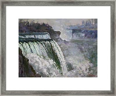 Niagara American Falls 2 Framed Print by Ylli Haruni