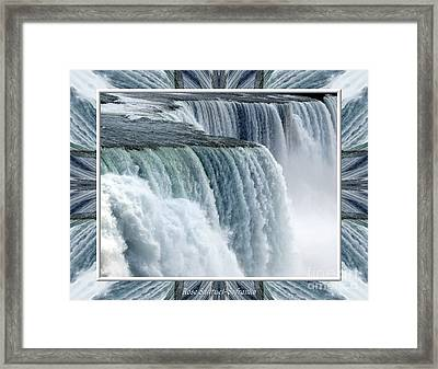 Niagara Falls American Side Closeup With Warp Frame Framed Print by Rose Santuci-Sofranko