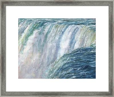 Niagara Falls Framed Print by David Stribbling