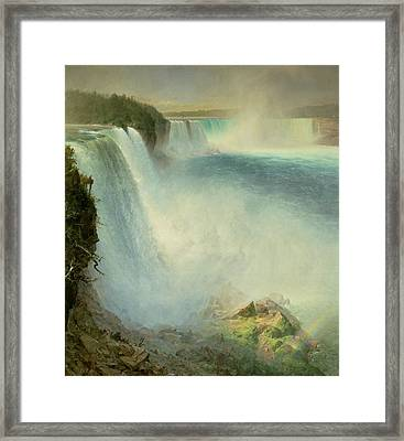 Niagara Falls, From The American Side, 1867 Framed Print by Frederic Edwin Church