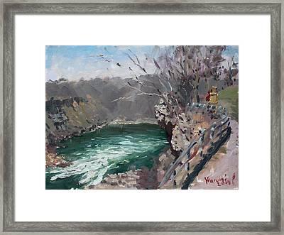 Niagara Falls Gorge Framed Print by Ylli Haruni