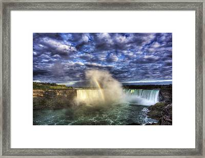 Niagara Falls Rainbow Framed Print by Shawn Everhart