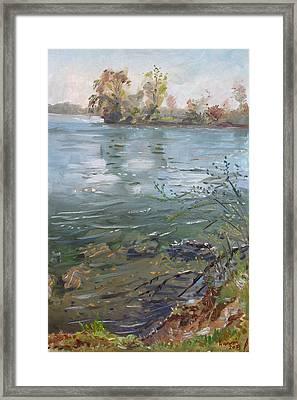 Niagara River Spring 2013 Framed Print by Ylli Haruni