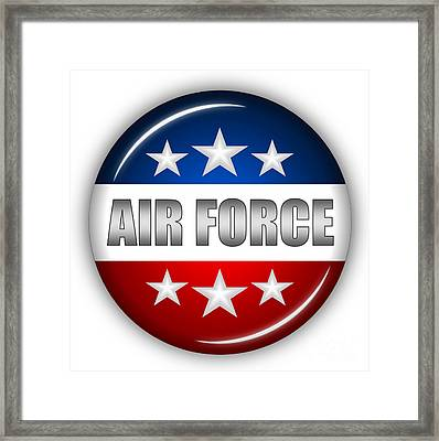 Nice Air Force Shield Framed Print by Pamela Johnson