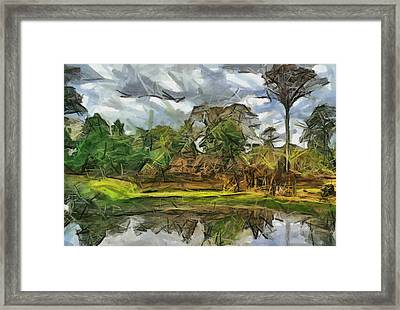 Nice Cambodia Temple Framed Print by Teara Na