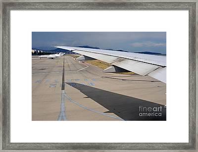 Nice Internationat Airport Framed Print by Sami Sarkis