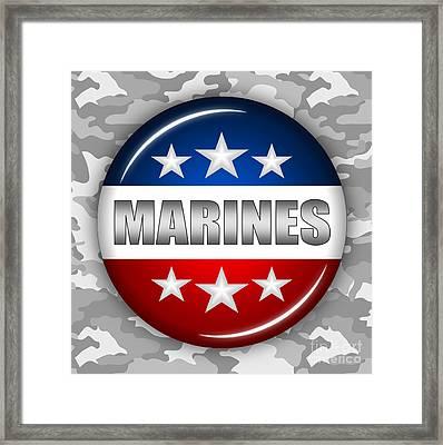 Nice Marines Shield 2 Framed Print by Pamela Johnson