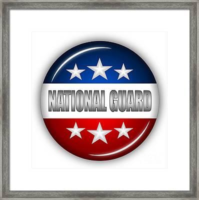 Nice National Guard Shield Framed Print by Pamela Johnson