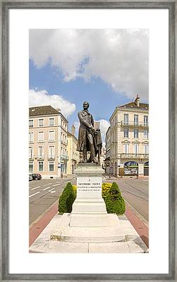 Nicephore Niepce Statue Framed Print by Panoramic Images