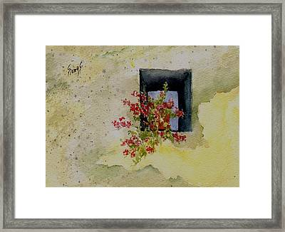 Niche With Flowers Framed Print by Sam Sidders