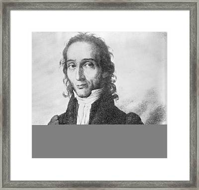 Nicholo Paganini, Italian Violinist Framed Print by Science Photo Library