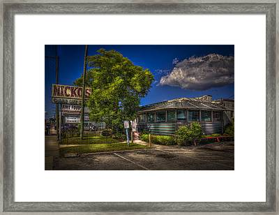 Nicko's Fine Foods Framed Print by Marvin Spates