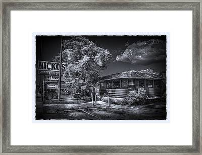 Nicko's Restaurant Framed Print by Marvin Spates