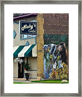 Nicky's Cafe Framed Print by Frozen in Time Fine Art Photography