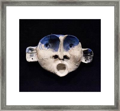 Nico Cobalt Mask Framed Print by Mark M  Mellon