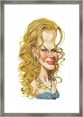 Nicole Kidman Framed Print by Art