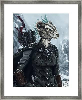 Niddhoga The Thief Framed Print by Alexa-Renee Smothers