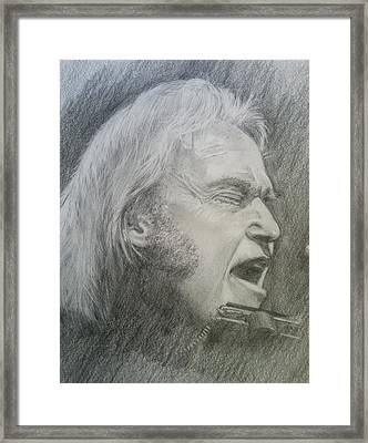 Niel Young Framed Print by Rich Alexander