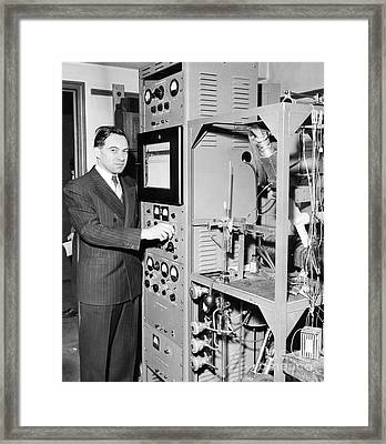 Nier And Mass Spectroscopy Equipment Framed Print by Emilio Segre Visual Archives/american Institute Of Physics