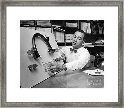 Nier And Uranium Separation, 1950s Framed Print by Emilio Segre Visual Archives/american Institute Of Physics