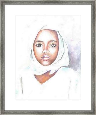 Nigerian Girl Framed Print by Jovica Kostic