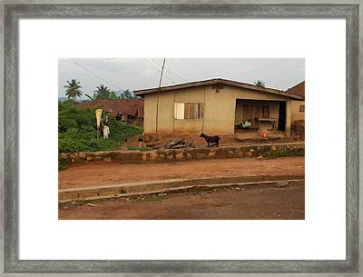 Nigerian House Framed Print by Amy Hosp