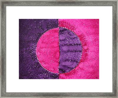 Night And Day Original Painting Framed Print by Sol Luckman