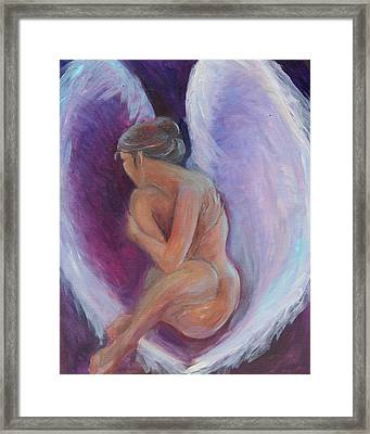 Night Angel Framed Print by Gwen Carroll