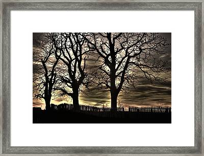 Night Approaches-1b - Gettysburg Battlefield Framed Print by Michael Mazaika
