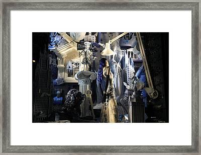 Night At Bergdorf Goodman's Department Store 4 - Christmas Window 2014 Framed Print by Madeline Ellis