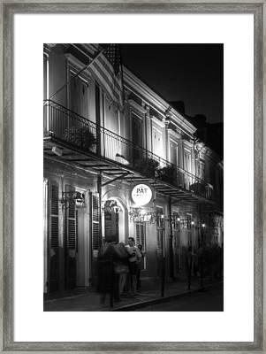 Night At Pat O'brien's Framed Print by Greg and Chrystal Mimbs