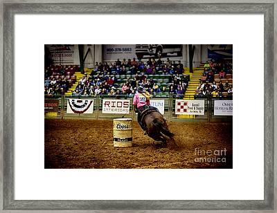 Night At The Rodeo V23 Framed Print by Douglas Barnard