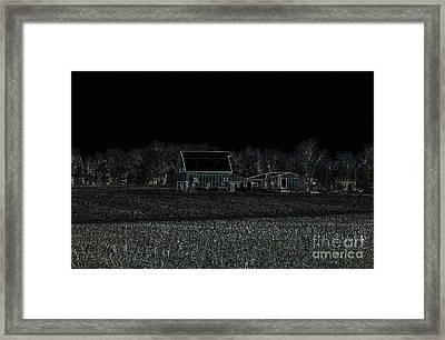 Night Barns Framed Print by Alys Caviness-Gober