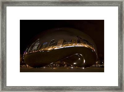 Night Bean Framed Print by Margaret Guest