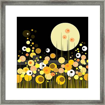 Night Blooming Flowers Framed Print by Val Arie