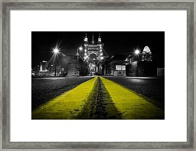 Night Bridge Framed Print by Keith Allen