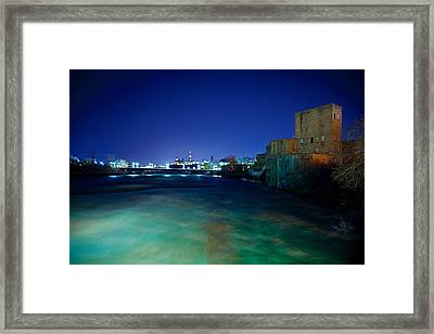 Night Cityscape Framed Print by Andre Faubert