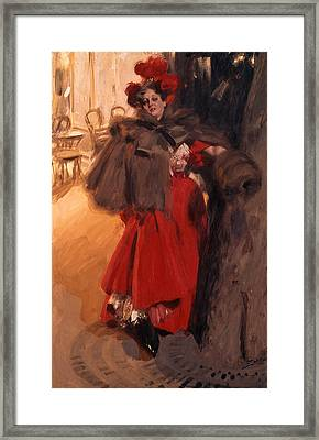 Night Effect Framed Print by Anders Zorn