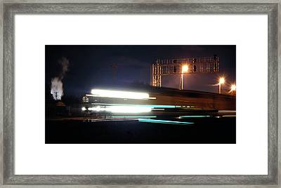 Night Express - Union Pacific Engine Framed Print by Steven Milner