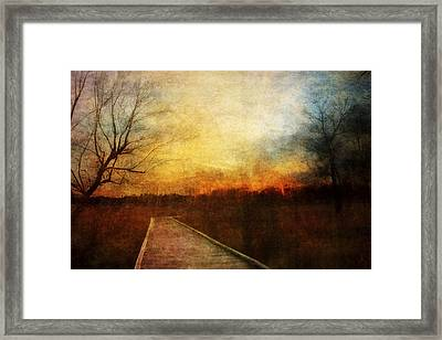 Night Falls Framed Print by Scott Norris