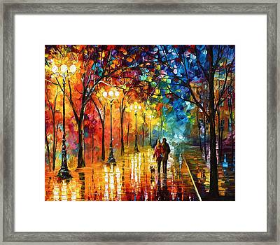 Night Fantasy Framed Print by Leonid Afremov