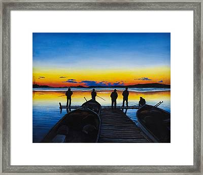 Night Fishing Framed Print by Aaron Spong