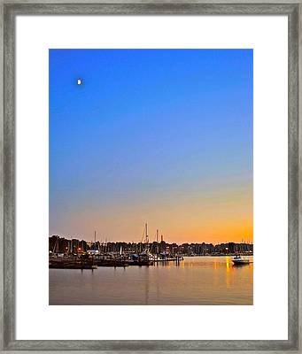 Night Fishing Framed Print by Frozen in Time Fine Art Photography