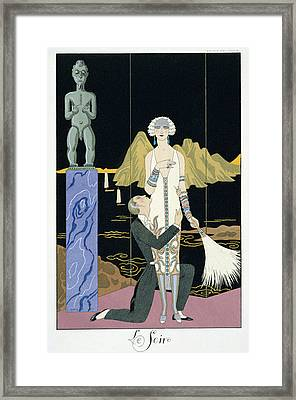 Night Framed Print by Georges Barbier