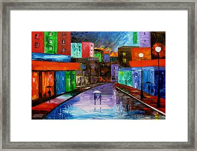 Night In Purple Framed Print by Mariana Stauffer